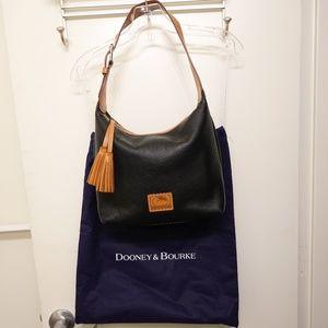 Dooney & Bourke Black Pebble Leather Shoulder Bag